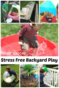 10+ Stress Free Backyard Play Ideas For Kids {Backyard Games Series}
