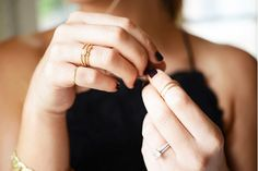Delicate engagement ring // via Cupcakes and Cashmere