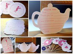 Teddy Bear Tea Birthday Party Favor Tags Set of 12