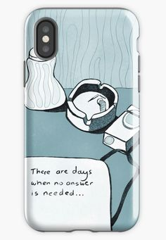 Black and white drawing No Answer Needed by DrawingEggen iPhone Case for Sale Black And White Drawing, Black And White Illustration, Cool Phone Cases, Iphone Case Covers, Funky Design, Sell Your Art, Cool Gifts, Protective Cases, Cover Design