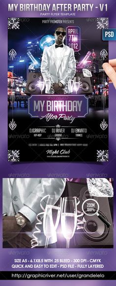 DOWNLOAD HERE: http://graphicriver.net/item/my-birthday-after-party-flayer-template/1859111?r=grandelelo