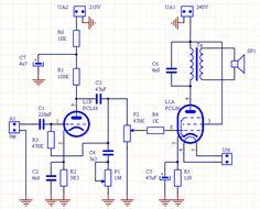 wzmacniacz pcl86 schemat schematy - tube amplifier schematic diagram