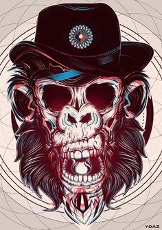 gorilla rocker skull
