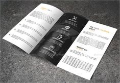 a minimalist modern black and white brochure design that can be