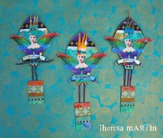 Flights o Fantasy Whimsy Jewel Tone Regal Balloons by theresa mARTin paperwhimsy images