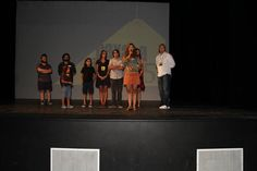 On stage with Director Patricia Chica presenting SERPENT'S LULLABY - one of 5 screenings during the 5th annual Oaxaca FilmFest 2014.