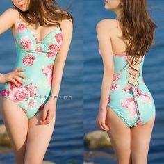 #cute #bikini Charming flower print bikini #coniefox #2016prom