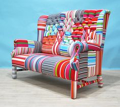 Hey, I found this really awesome Etsy listing at https://www.etsy.com/listing/187157025/striped-wing-patchwork-sofa