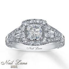 Cushion Cut DIamond Ring from Neil Lane Bridal: Kay Jewelers