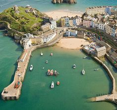 Aerial view of my beautiful Tenby, West Wales, UK South Wales, Wales Uk, Places To Travel, Places To See, Wales Holiday, Pembrokeshire Wales, Visit Wales, Uk Holidays, England