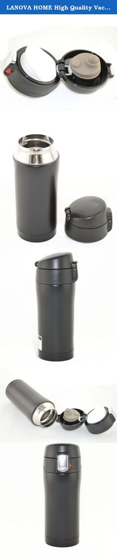 LANOVA HOME High Quality Vacuum-Insulated Stainless Steel Travel Mug, 11-Ounce,Black. Double-wall design helps keep drinks warm or cold and the textured non-slip sleeve helps you keep a grip on hot beverages. The screw-on lid with a flip open cap helps prevent leaks and spills. It's great for gift-giving, marketing giveaways, and more. Set includes 4 - 16-oz. double-wall travel mugs with non-slip sleeves and screw-on, flip-top lids.Save Money when buying two mugs. It can also be used as a...