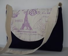 Messenger Bag / Crossbody Bag in Purple French by jazzygeminis, $28.00
