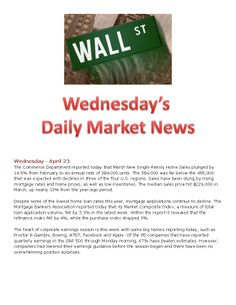 4-23-14 Wednesday Daily Market News www.equitysourcemortgage.com