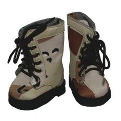 Desert camo doll boots