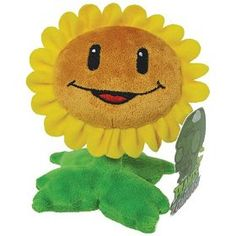 Plants VS Zombies Plush Sunflower PopCap 928348 for sale online Kids Sand, Vintage Video Games, Zombie Party, Thing 1, Plants Vs Zombies, Gamer Gifts, Cartoon Movies, Angry Birds, Plushies