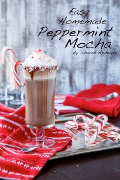 Peppermint mocha mmmmmmm sounds so good ! Definitely making this ... Wonder if I could make into a frap?