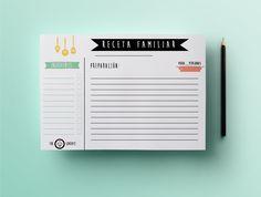 recetario molon para cocineros salaos Printable Recipe Cards, Printable Planner, Printables, Bullet Journal Aesthetic, Cuisines Design, Planner Organization, Scrapbook Albums, Scrapbooking, Vintage Recipes