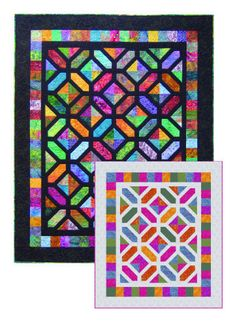 Carrefour Quilt Pattern Paper Pieced Quilts Marjorie Rhine Stained Glass