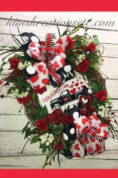 Sharing a Valentine wreath created by Trendy Tree customer, Kim's Kreations. It's for sale on her website. Shop Trendy Tree online for Valentine decor and wreath making supplies - mesh - ribbons -florals and more! Valentine Day Wreaths, Valentine Decorations, Valentine Crafts, Holiday Wreaths, Valentine Ideas, Valentine Stuff, Printable Valentine, Homemade Valentines, Valentine Box