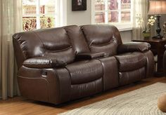 HE-8406-2 SOFA/CHAIR COLLECTION LOVE SEAT, GLIDER RCLNR, C.CONSOLE,BRW Finish: Dark Brown Bonded Leather Match Dimensions: 76 x 39 x 40H