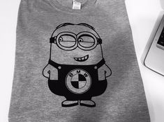 FUNNY CUTE BMW MINION PRINTED T-SHIRT GREAT GIFT PRESENT FOR BMW FANS #Unbranded