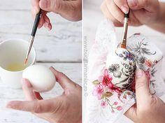 Oua decorate cu tehnica servetelului • Bucatar Maniac • Blog culinar cu retete Diy And Crafts, Arts And Crafts, Easter Crafts, Icing, Decoupage, Projects To Try, Eggs, Homemade, Creative