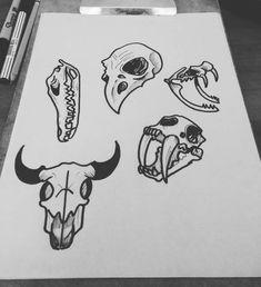 """7 Me gusta, 1 comentarios - bryan Calderón (@calderony12) en Instagram: """"Cráneos diseños propio Disponibles #draw #drawing #dark #craneo #animal #tattoo #tatuaje #art…"""""""