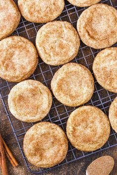 These Chewy Snickerdoodles are soft and buttery cookies that are covered in cinnamon and sugar! Such a classic cookie recipe and one of my favorites! #christmascookies #holidays #snickerdoodles #cookiessnickerdoodle