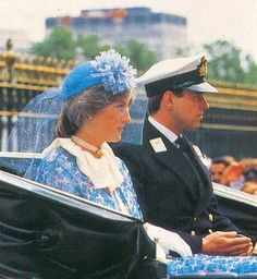 13 JUNE 1981 LADY DIANA SPENCER AND PRINCE CHARLES AT TROOPING THE COLOUR AMIDST…