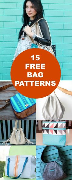 15 FREE Bags Patterns: access a great compilation of free printable sewing patterns and easy sewing tutorials to create classic and modern looking bags. #EasySewingTips