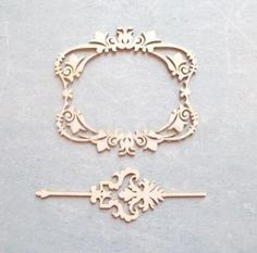Výrezy z lepenky / sada - rámik a bordúra