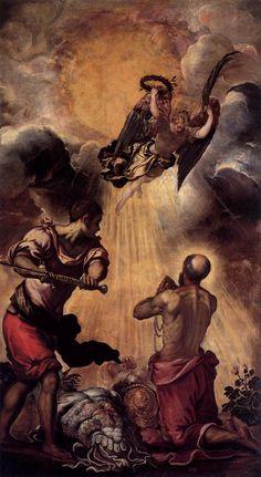 """Título: """"EL MARTIRIO DE SAN PABLO"""" (The Martyrdom of St. Paul). Pintado en 1.556. Estilo: Manierismo."""