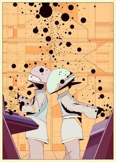 Retro futurism from the art of Kilian Eng Art And Illustration, Character Illustration, Retro Illustrations, Futurism Art, Retro Futurism, Arte Sci Fi, Sci Fi Art, Kilian Eng, Retro Poster