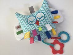 Crinkle Toy Plush Crinkle Ribbon Rattle by BabyBallToyOutlet