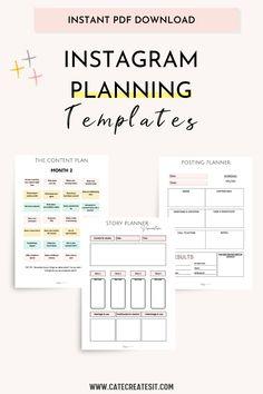Social Media Marketing Business, Marketing Plan, Online Business, Blog Planner Printable, Printables, Comunity Manager, Business Planner, Business Ideas, Instagram Marketing Tips