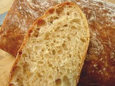 This is one of the BEST no-knead ciabatta breads! My favorite bread is Ciabatta.I hope this is a good recipe! Chef John Food Wishes, Chef John Recipes, Bread Recipes, Cooking Recipes, Pizza Recipes, No Bread Diet, Bread Food, Bread Pizza, Beer Bread