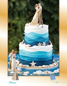 """Τούρτα Γάμου """"Waves"""" ... Δείτε και τις υπόλοιπες τούρτες γάμου της Sugarworld Αλιπράντης στον παρακάτω σύνδεσμο http://www.sugarworld.gr/website/el/component/content/article/85.html  Ζητείστε μας, τον νέο κατάλογο με τις τούρτες!"""