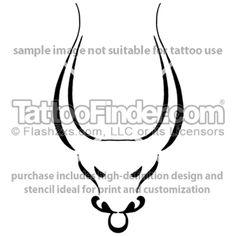 Stylized Taurus tattoo design by Melanie Paquin