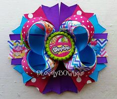 5 Shopkins Boutique Stacked Hair Bow Shopkins by DLovelyBOWtique