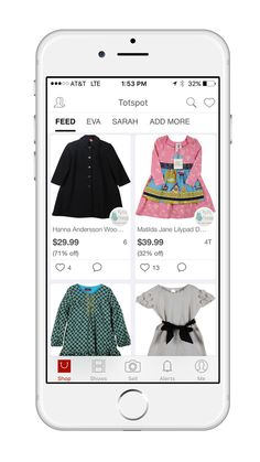 Totspot app: Buy and sell clothes right on your smart phone