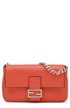 Fendi 'Micro' Nappa Leather Baguette (Extra Small) available at #Nordstrom