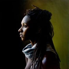 Jazmine Profile, 18 x 18 inches, Oil on linen, by Amy Ling