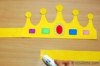 Step 5 Print and Color Crown