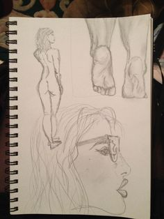 Teaching myself how to draw. #bodies #arttherapy #monthtenofart