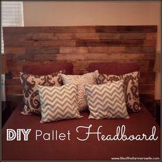 DIY Pallet Headboard and Master Bedroom Decor DIY Home Furniture