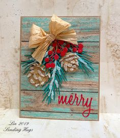 Rustic Christmas by bearpaw - Cards and Paper Crafts at Splitcoaststampers Card Kit, Card Tags, I Card, Rustic Christmas, Christmas Crafts, Christmas Wrapping, Homemade Christmas, Christmas Ideas, Xmas Cards