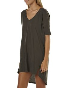 The Bare Road Womens Tee Dress Charcoal