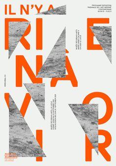 Il n'y a rien à voir, affiche | 2010 - Frédéric Held | Graphisme & Typographie