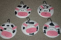 cows from paper plates :)