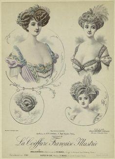 Coiffures de Mr. G. Dordel, 5, Rue Royale, Paris. (1908)